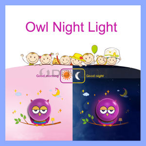 Owl Style Light Control Wall LED Lamp Bedroom Wall Sticker Decal 3D Effect pictures & photos