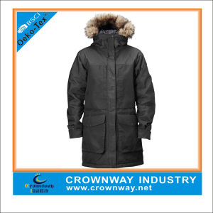 Men Military Insulated Parka Jacket with Fur Hoody pictures & photos