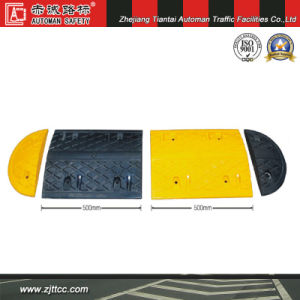 Reflective Industrial Rubber Road Safety Calming Humps (CC-B02) pictures & photos