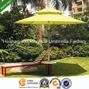 2.7m Double Layer Aluminium Patio Umbrellas for Outdoor Furniture (PU-0027AD) pictures & photos