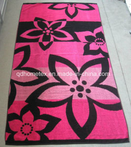 Yarn Dyed Jacquard Beach Towel Approved by Okeotex