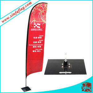 Custom High Quality Fashion Polyester Red Beach Flag pictures & photos