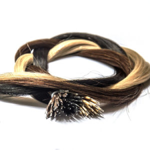 Tangle and Shedding Free European Remy Nano Ring Human Hair Extension pictures & photos