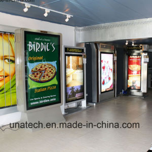 Airport Indoor Metro Advertising Media PP Paper Aluminium Frame Billboard Structure LED Side Light Box pictures & photos