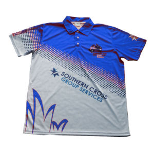 Polyester T Shirt Polo Shirt with Good Design pictures & photos