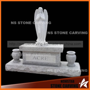 Sesame Grey Granite Monument with Angel pictures & photos