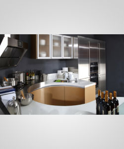 2017 High Quality Modern Lacquer Kitchen Cabinet (zz-055) pictures & photos