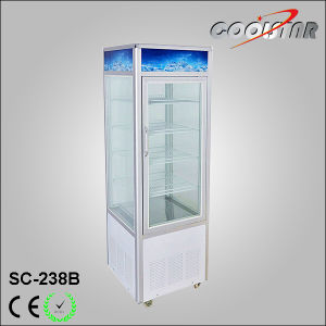 Upright Refrigerating Showcase with Four Glass Door pictures & photos