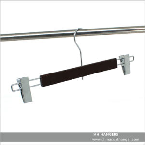 High Load Bearing Adjustable Wooden Bottom Clips Hanger pictures & photos