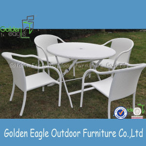 PE Rattan Stackable Outdoor Furniture Cheap Dining Set pictures & photos