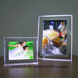 Indoor on Desk Crystal Acrylic Publicidad Caja De Luz Advertising LED Light Box pictures & photos