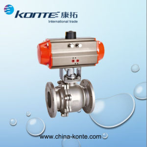 Ss304 3PC Pneumatic Threaded Ball Valve pictures & photos