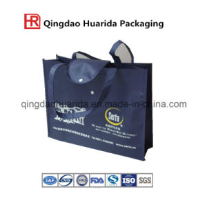 Supermarket Shopping Recycled Fabric Non-Woven Bag with Hand Rope pictures & photos
