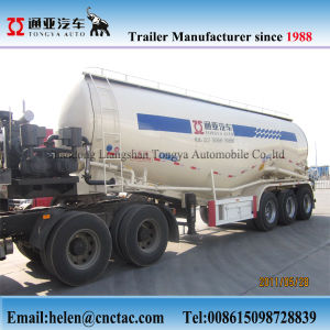 Three Axle Dry Bulk Cement Powder Truck Trailer pictures & photos