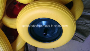 PU Foam Solid Wheel, Flat Free Wheel 4.00-8 pictures & photos