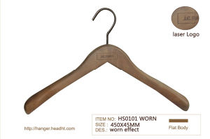 Antique Washed Used Finishing Wooden Suit Hanger Cheapest 30000PS pictures & photos