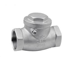 Stainless Steel Swing Check Valve Screw Ends 200wog pictures & photos