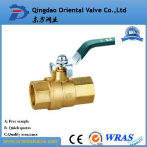 BSPT/NPT Thread Type Brass Ball Valve Full Size with Chrome Plated for Oil pictures & photos