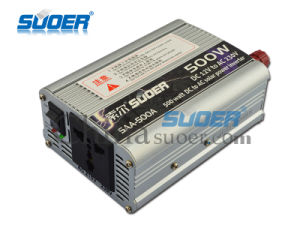 Suoer 12V 500W DC to AC Solar Inverter (SAA-500A) pictures & photos