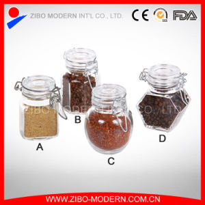 Mini Glass Spice Jar with Metal Clip Lid pictures & photos