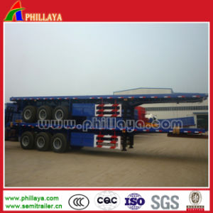 Cimc 3 Axles Flatbed Container Trailer pictures & photos