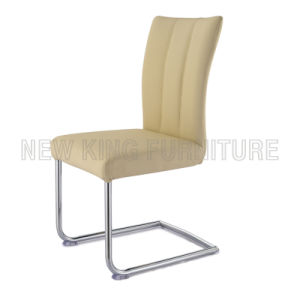 Modern Comfortable Chrome Steel Foot PU Leather Dining Chair (NK-DC038)