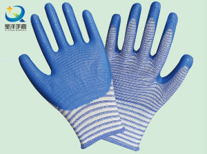 13G Polyester Shell Nitrile Coated Safety Work Gloves (N7006) pictures & photos