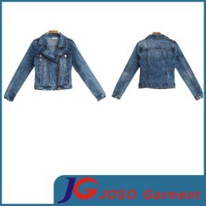 Metal Zipped Short Women Denim Truck Jacket Ladies Jeans (JC4082) pictures & photos