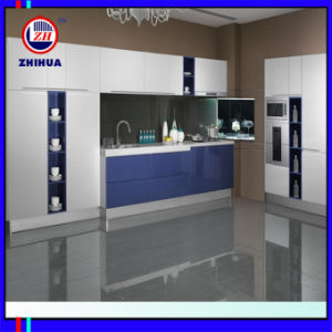 Lacquer Door Kitchen Cabinet Manufacturer (ZH091) pictures & photos