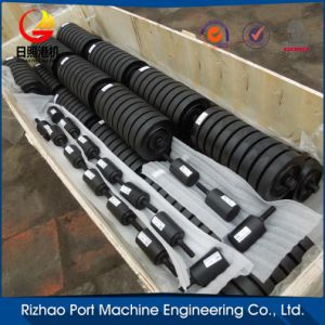 SPD Conveyor Impact Roller, Impact Idler, Rubber Coated Conveyor Roller pictures & photos