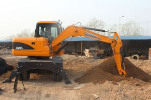 8ton Wheel Excavator with Yanmar Engine Tier III Good Quality Good Price Digger for Sale pictures & photos