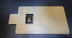 Credit Card USB Drives Wooden Material USB Key USB Disk USB Stick (DG-SZ158)