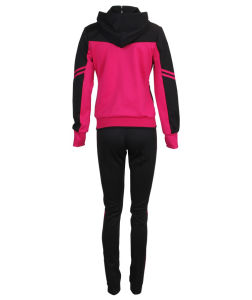 High Quality China Wholesale Running Zipped Hoody Long Sleeve Women Sport Suit pictures & photos