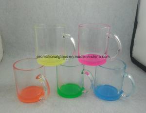 Colored Bottom Sublimation Glass Mug, 12oz