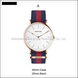 Promotion Simple Men′s Watch Couple Leather Strap D Style Wrist Watch pictures & photos