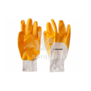 High Quality Nitrile Coating Interlock Gloves pictures & photos