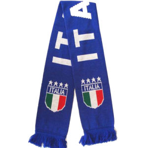 100% Cotton Knitted Football Scarve for Sale pictures & photos