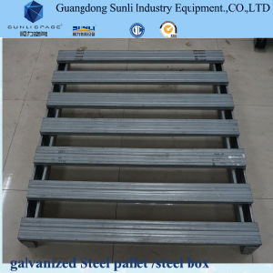 Euro Size Galvanized Reinforced Box Steel Pallet for Sale pictures & photos