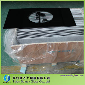 Clear Float Tempered Glass for Oven Doors with Customized Patterns pictures & photos