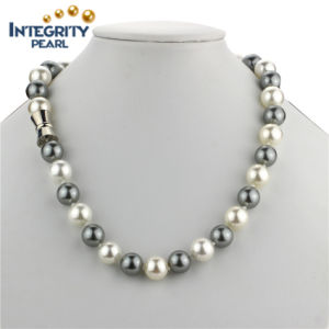 12mm Sea Shell Big Size Multi-Color Round Pearl Necklace