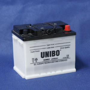 High Quality Dry Charged Lead Acid Battery DIN62 12V62ah Car Battery pictures & photos