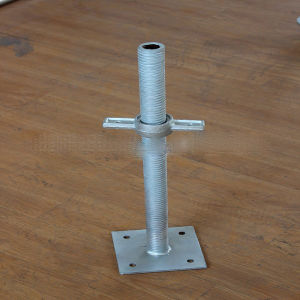 600-1520mm Gavanized Scaffold Adjustable Solid/Hollow Jack Base pictures & photos