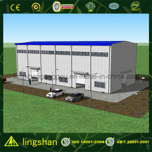 Lingshan Steel Structure Low Cost Prefab Construction Warehouse (QDLS-009) pictures & photos