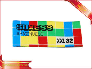 Colorful Woven Main Label Garment Woven Brand Label pictures & photos