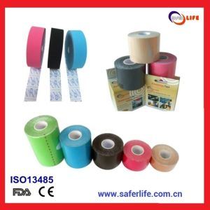 Saferlife Sports Bandage Physiotherapy Elastic Adhesive Tape 5cm X 5m Cotton Kinesiology Kinesio Tape pictures & photos