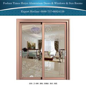 Aluminium/Aluminum Hanging Doors with Double-Layer Tempered Glasses pictures & photos