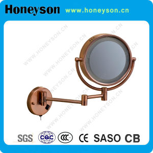 "6"" Hotel Red Copper Mirror with LED Light and Wall Mounted Function pictures & photos"