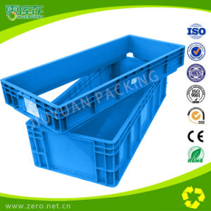Plastic Logistic Container with Hinged Lid pictures & photos