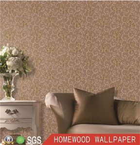Professional Manufacture Deep Embossed Vinyl Wall Paper Py1202-1 pictures & photos