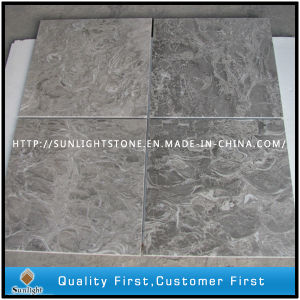 Cheap Overlord Flower Grey Stone Marble Tile for Floor, Flooring pictures & photos